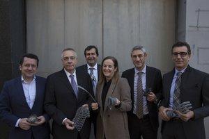 Los integrandes de +Debate de EL PERIÓDICO: Joan Parra, Pere Navarro, Leonardo Marqués, Aintzane Arbide, Ramon Pastor y Salvador Tasqué.