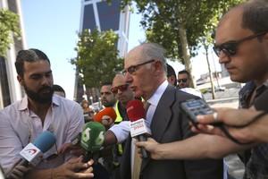 Rodrigo Rato a la entrada de los Juzgados de Plaza de Castilla