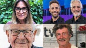 Algunas de las fotografías que han subido algunos rostros televisivos en sus redes sociaes.