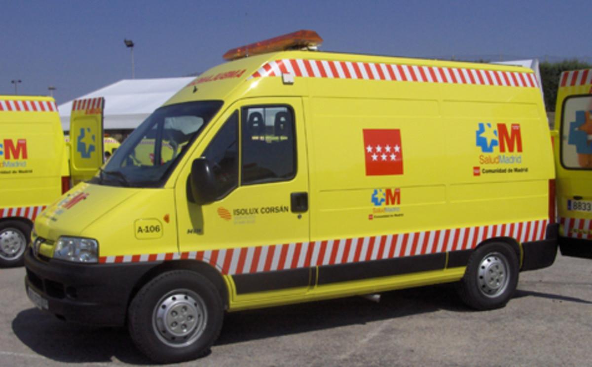 Ambulancias de la Comunidad deMadrid.