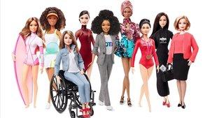 Conjunto de muñecas Barbie inspiradas en mujeres reales.