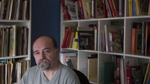 Antoni Guiral, en su estudio de Barcelona.