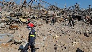 Un de las zonas devastadas por las explosiones del pasado martes en Beirut.