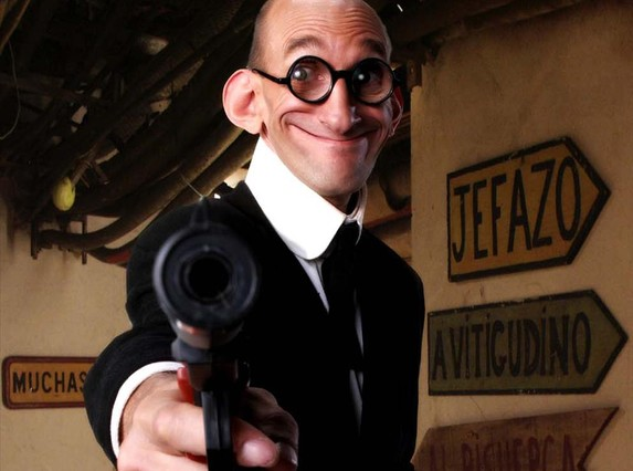 Benito Pocino en el papel de Mortadelo.