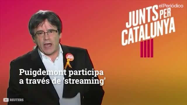 La campaña virtual de Puigdemont desde Bruselas.