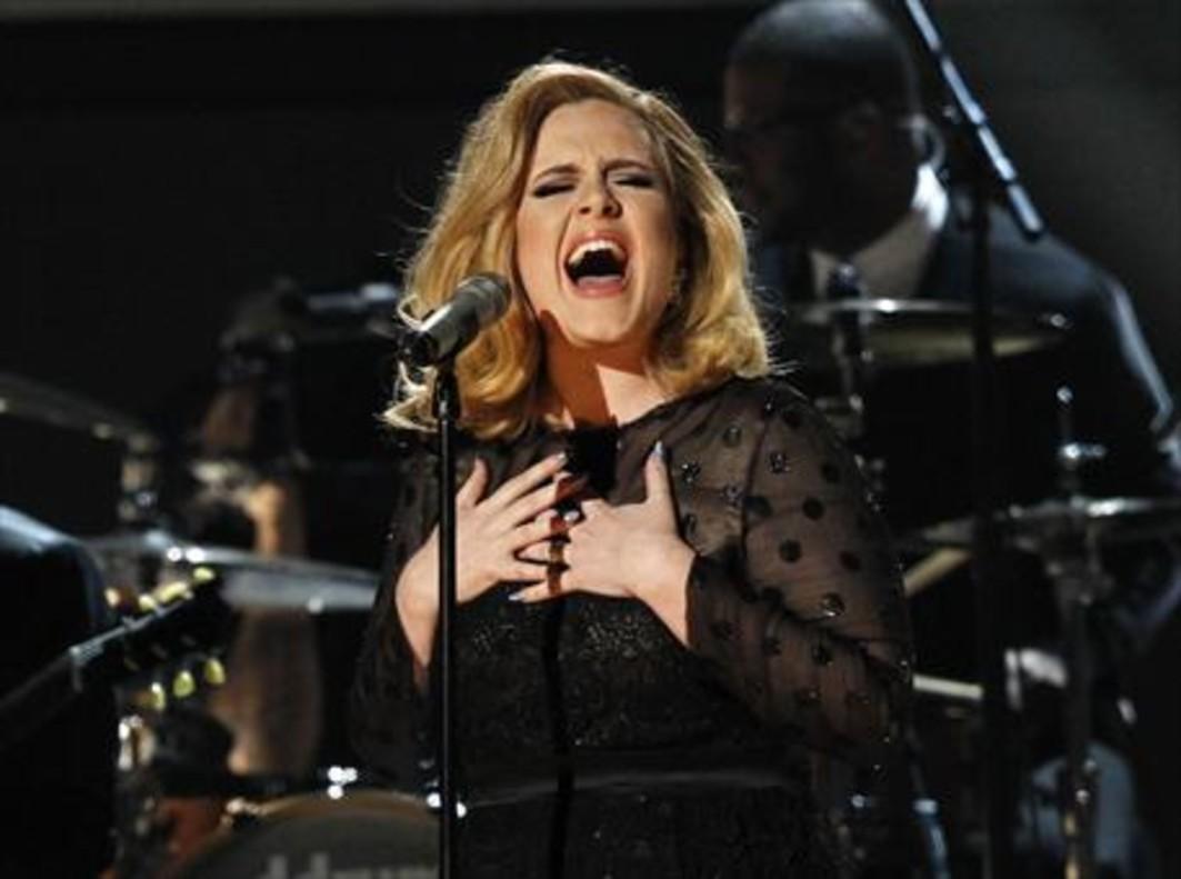 La cantante británica Adele, durante un concierto.