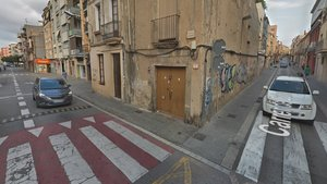 Esquina Camí Ral de la Mercè con calle Cuba, donde se produjo la agresión.