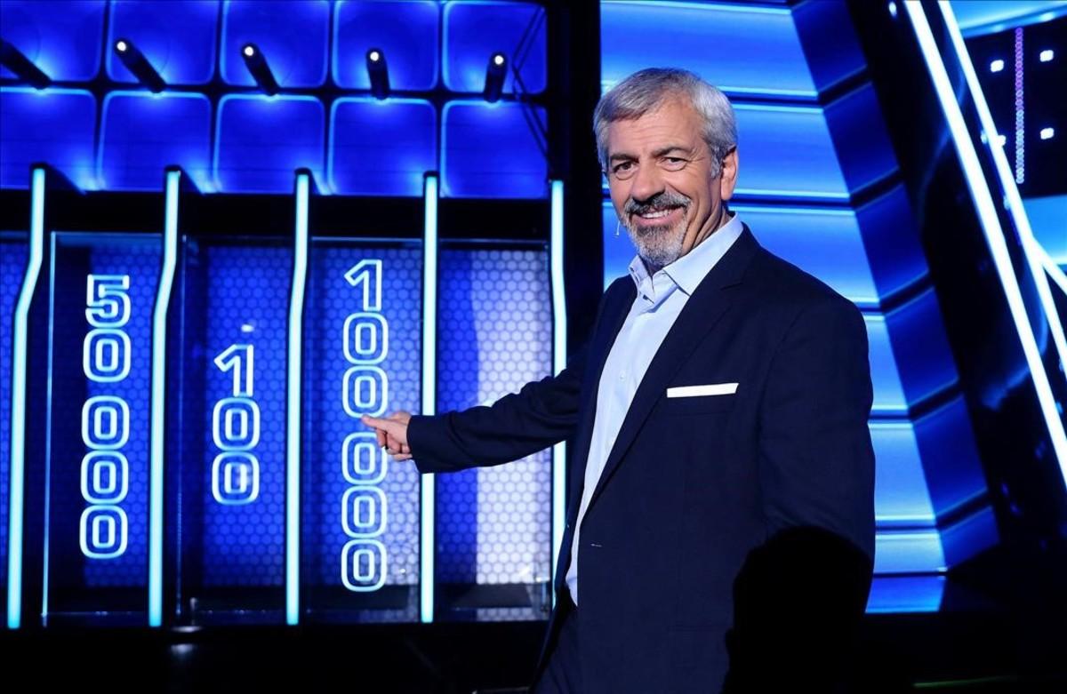 Carlos Sobera, en el concurso de Tele 5 'The wall. Cambia tu vida'.