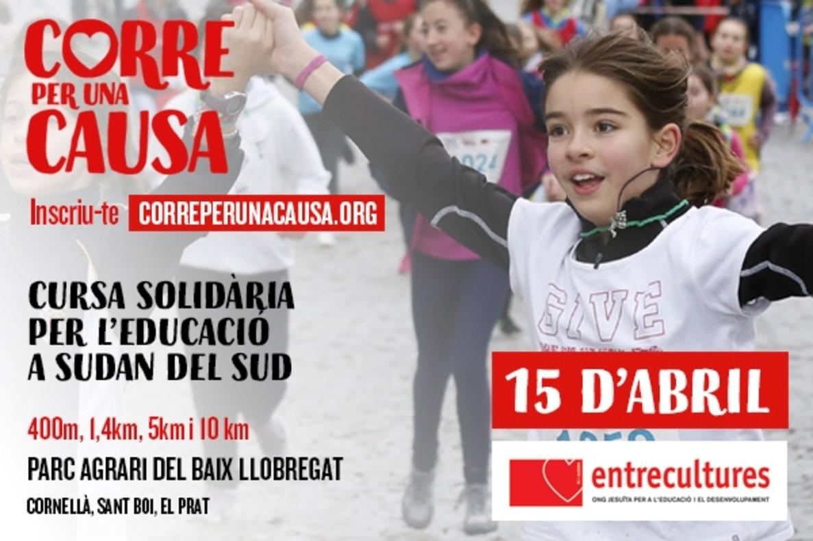 Cartel de la carrera solidaria de Entrecultures.