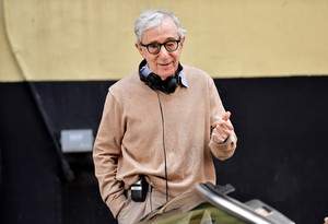 NEW YORK, NY - SEPTEMBER 11: Woody Allen seen on location for his untitled movie on September 11, 2017 in New York City. (Photo by James Devaney/GC Images)