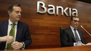 El consejero delegado de Bankia, José Sevilla, a la derecha.