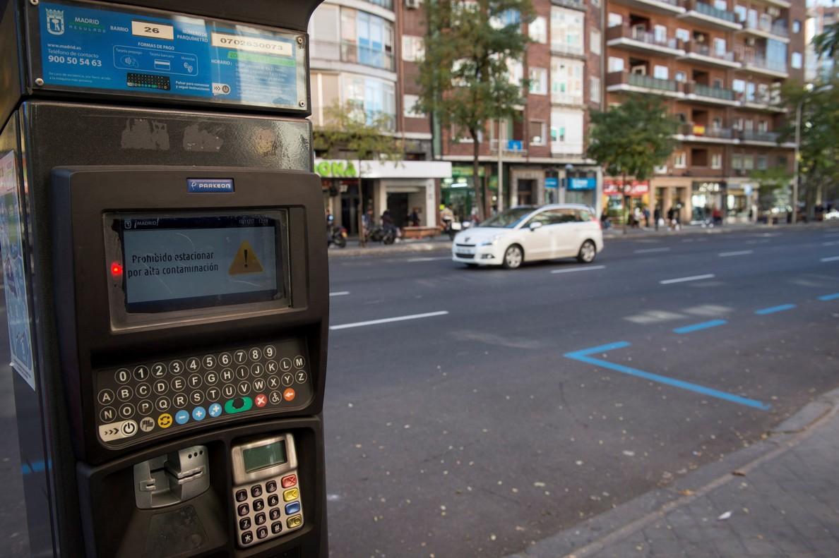 Restricciones al aparcamiento en el escenario 3 en Madrid.