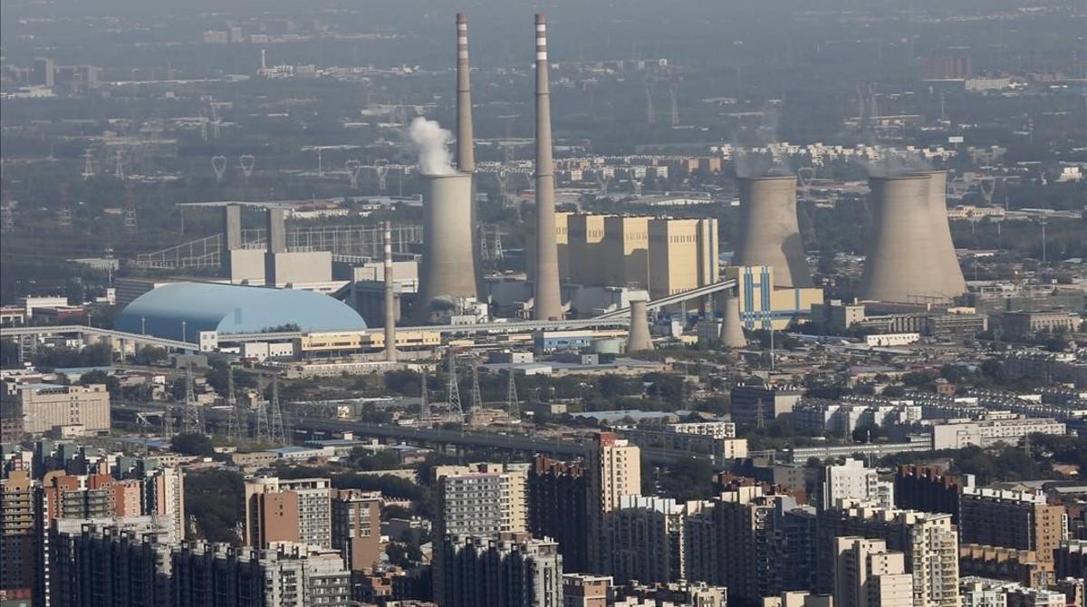 Una central térmica cercana a Pakín, la capital china.