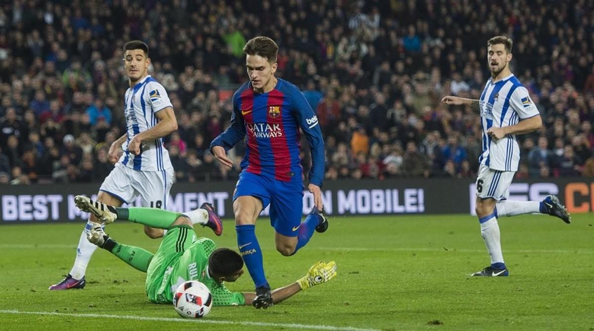 Imagen del partido decuartos de final de la Copa entre el FC Barcelona y la Real Sociedad,programa emitido por el canal Gol y que fue el mas visto del mes de enero en Catalunya.