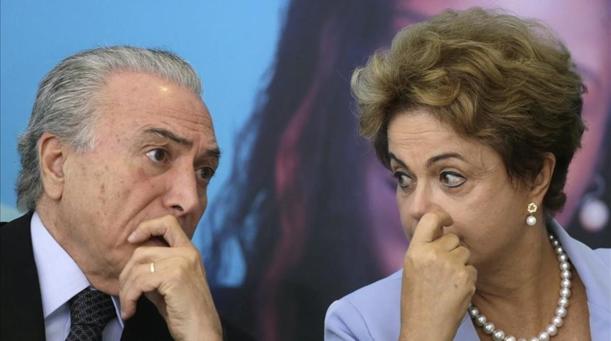 Dilma Rousseff y Michel Temer en el 2015.