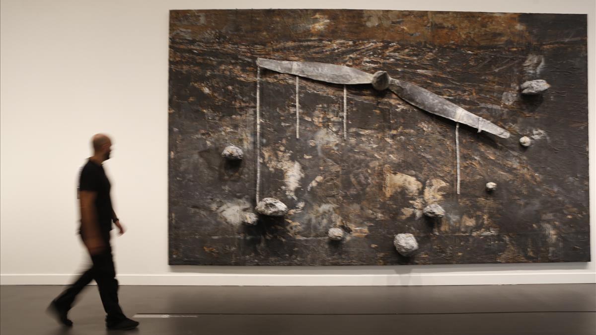 'Dionisio Aeropagita', de Anselm Kiefer, en la muestra de CaixaForum.