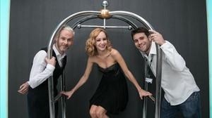 Dominic Monaghan, Ksenia Solo y Carles Torrens posan para EL PERIÓDICO en Sitges, donde han presentado Pet.