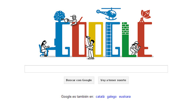 Google tambi n celebra el d a del trabajo for Trabajo jardinero barcelona