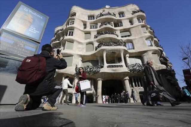 Edificio de La Pedrera, en el paseo de Gràcia de Barcelona.