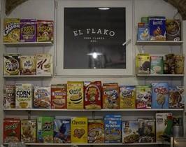 Amplia oferta de cereales en varias versiones en El Flako.