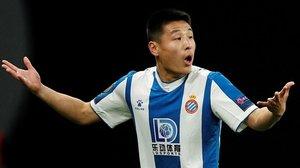El Espanyol de Wu Lei corre peligro de descender si no se vuelve a jugar.