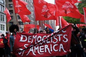 Protestas en Nueva York pro el Día del Trabajo. AFP