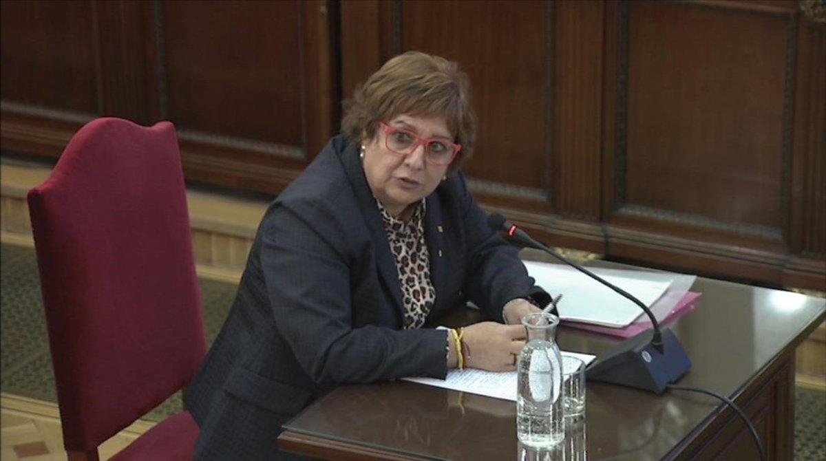 La exconsellera Dolors Bassa, durante su declaración en el juicio del procés.