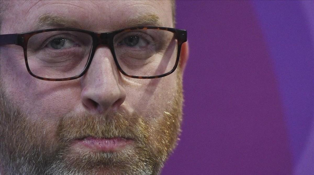El exlíder del UKIP, Paul Nuttall, en un acto de la campaña electoral.