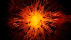 Simulación de la explosión del Big Bang, que se cree quedio origen al universo.