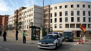 Fachada de la Comandancia de la Guardia Civil de Sant Andreu de la Barca.