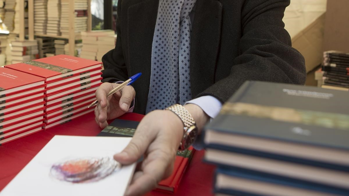 Firma de libros en Sant Jordi