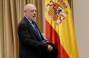 El fiscal general del Estado, José Manuel Maza, en el Congreso, el 1 de marzo.