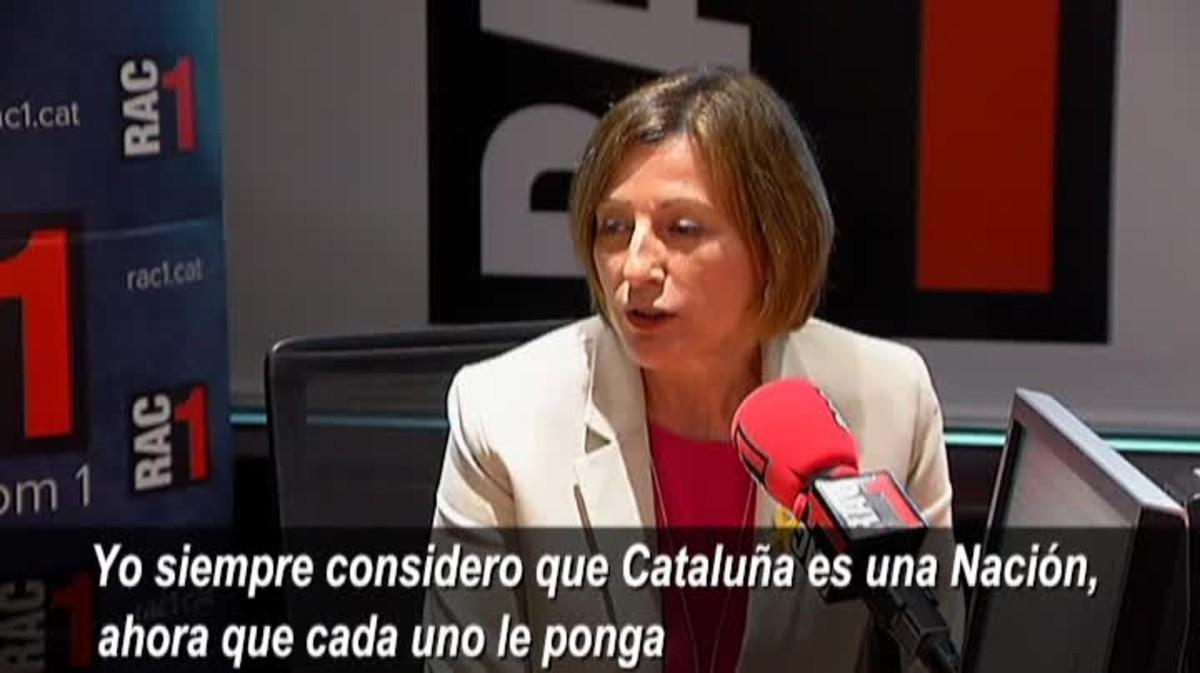 Forcadell se ha negado a opinar sobre las declaracionesante el Tribunal Supremode Joaquim Forn, Jordi Sànchez y Jordi Cuixart.