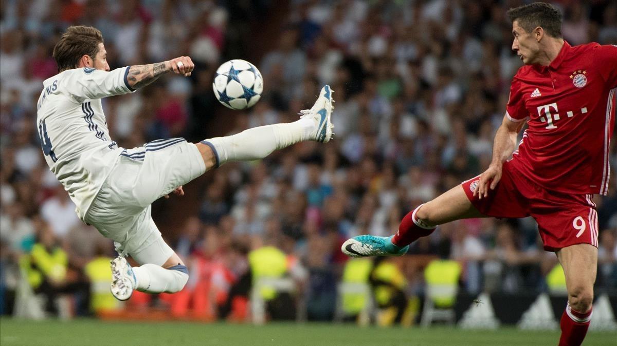 Partido de cuartos de final de la Champions Real Madrid-Bayer, la emisión más vista del año en televisión.
