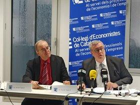 Anton Gasol y Xavier Segura durante la presentación de la encuesta.
