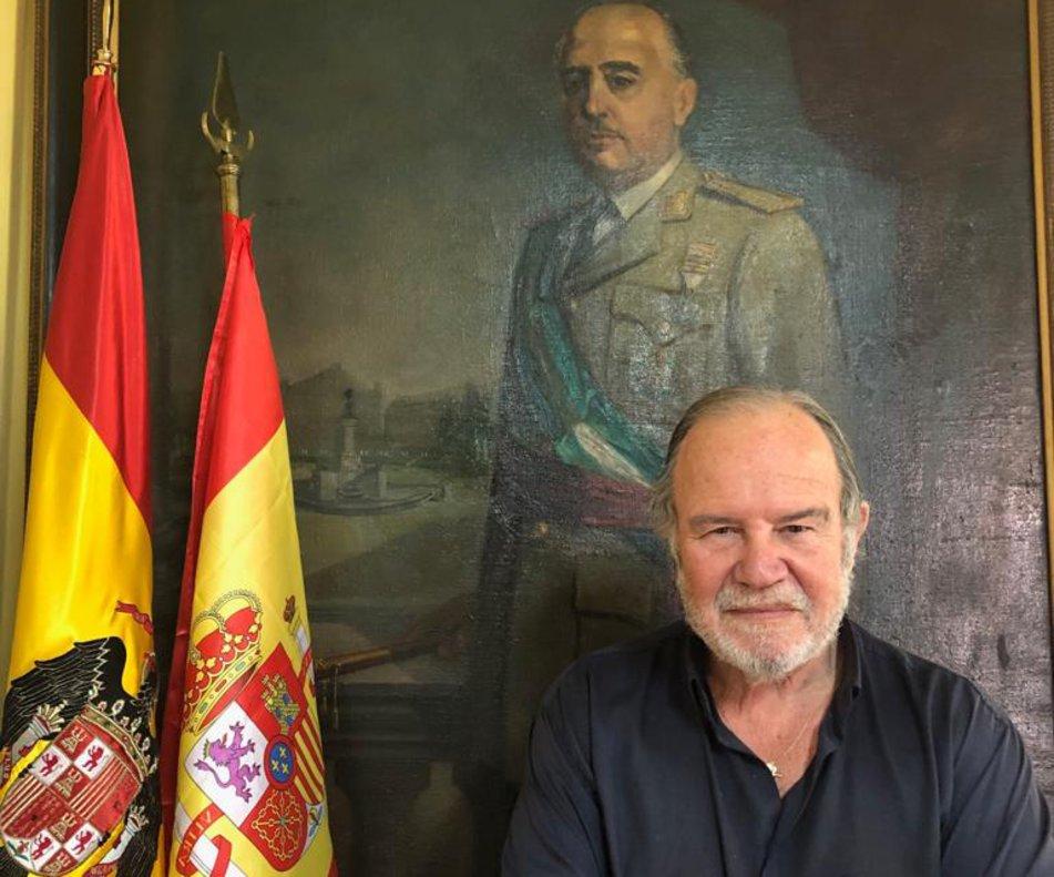 El general retirado, Juan Chicharro, presidente de la Fundación Francisco Franco.