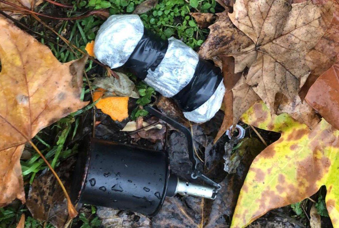 La granada de mano hallada en el Centro de Menores de Madrid.
