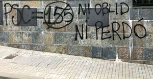 "Salvador Illa denuncia pintades ""intimidatòries"" al seu domicili"