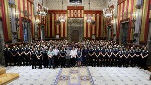 La nueva promoción de 139 agentes de la Guardia Urbana de Barcelona.