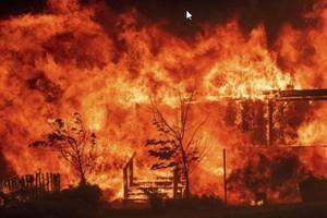 El incendio de California, en Estados Unidos.