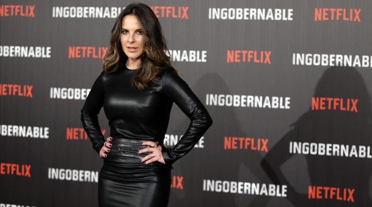 La actriz mexicana Kate del Castillo, en Madrid, donde ha presentado la serie de Netflix 'Ingobernable'