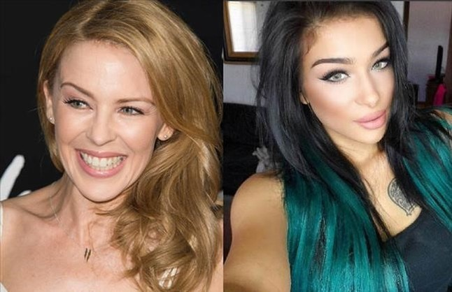 Kylie Minogue y Kylie Jenner.