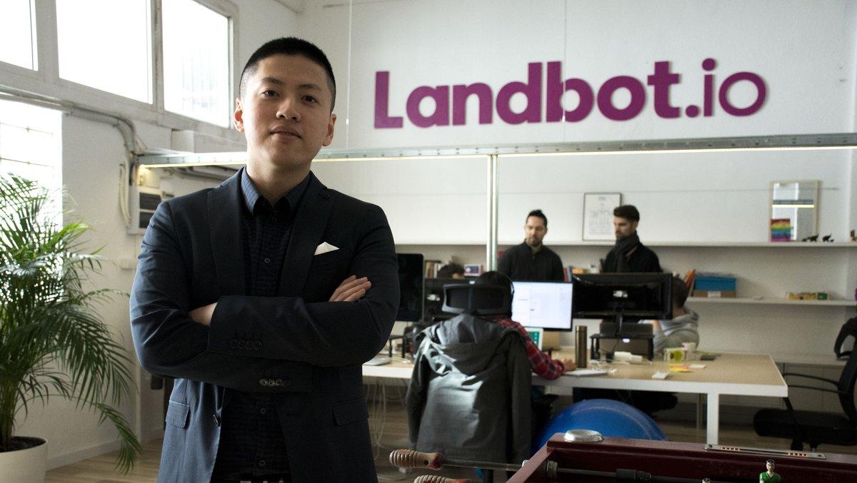 El consejero delegado de la 'start up' barcelonesa LandBot,Jiaqi Pan.