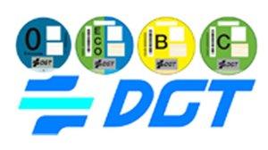 Las etiquetas medioambientales de la DGT.