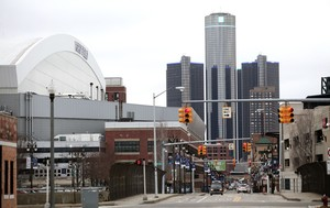 Las sedes de Ford y General Motors, en el centro de Detroit, este miércoles.