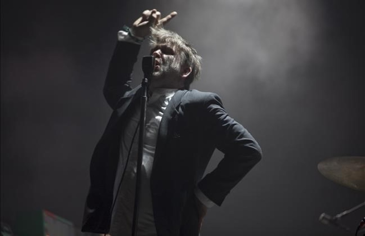 James Murphy, en el concierto de LCD Soundsystem, en el Primavera Sound.
