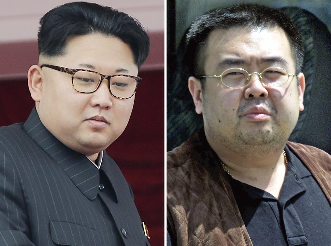 El líder de Corea del Norte, Kim Jong-un (izquierda), y su hermano fallecido, Kim Jong-nam.