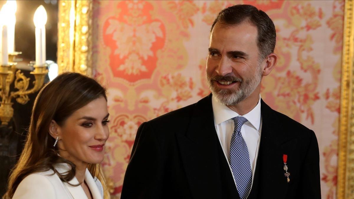 Felipe VI y la reina Letizia.