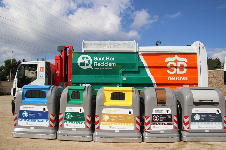 Los nuevos contenedores que habrá en Sant Boi.