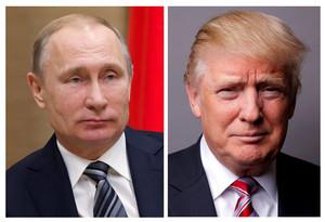 Los presidentes de Rusia, Vladimir Putin, y de EEUU, Donald Trump.